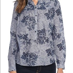 Lucky brand chambray blouse plus 1x